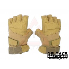 BHD Half Finger Assault Gloves - Tan(M-XL)
